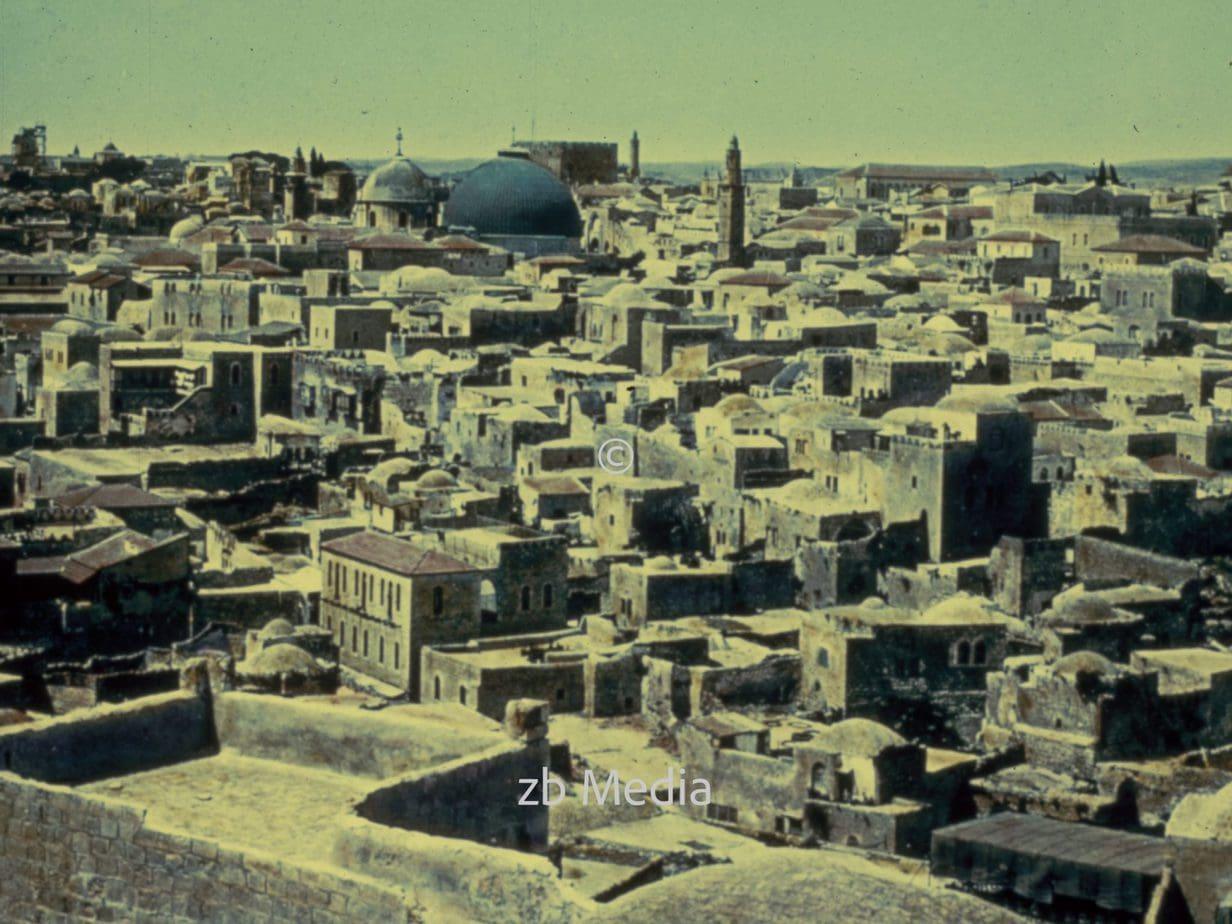 Jerusalem vom Berg Bezetha aus, um 1935