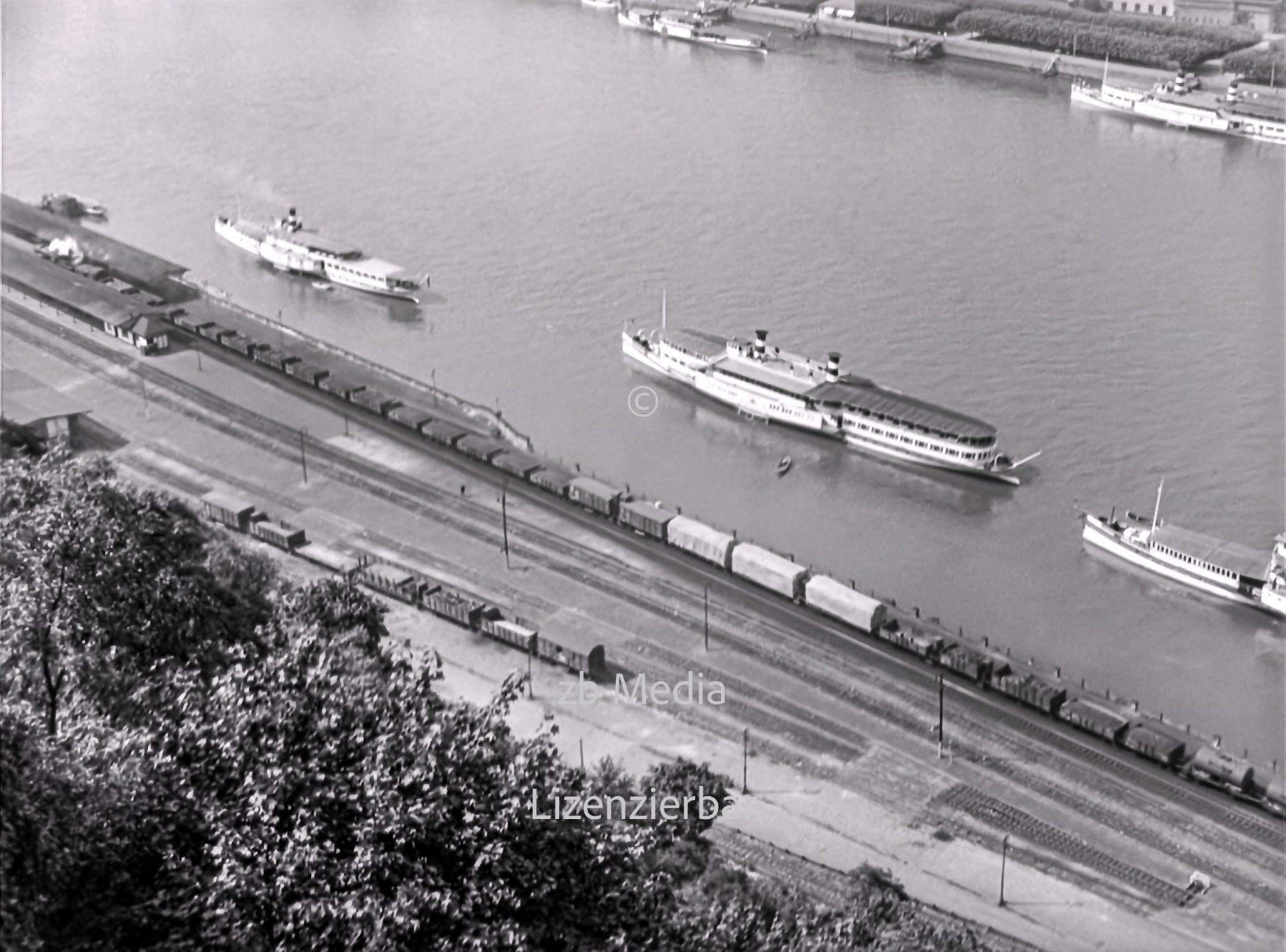 Der Rhein bei Koblenz 1937