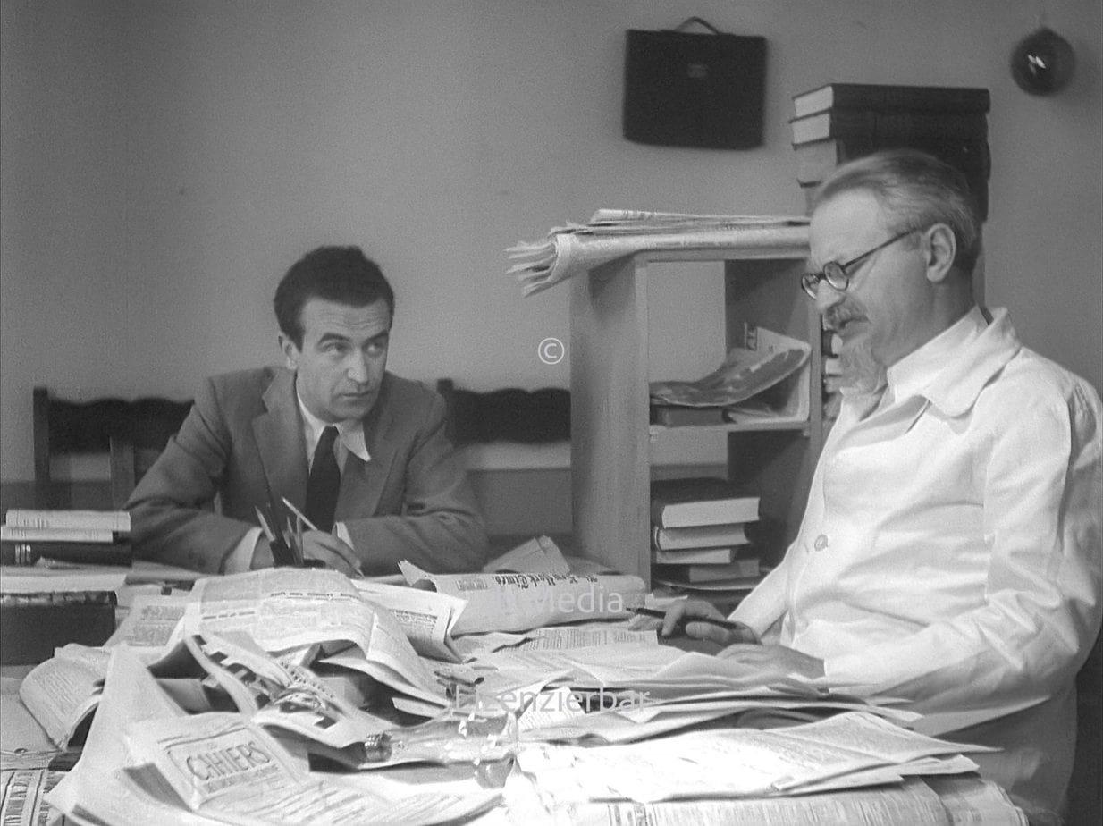 Leo Trotzki mit Jan Frankel