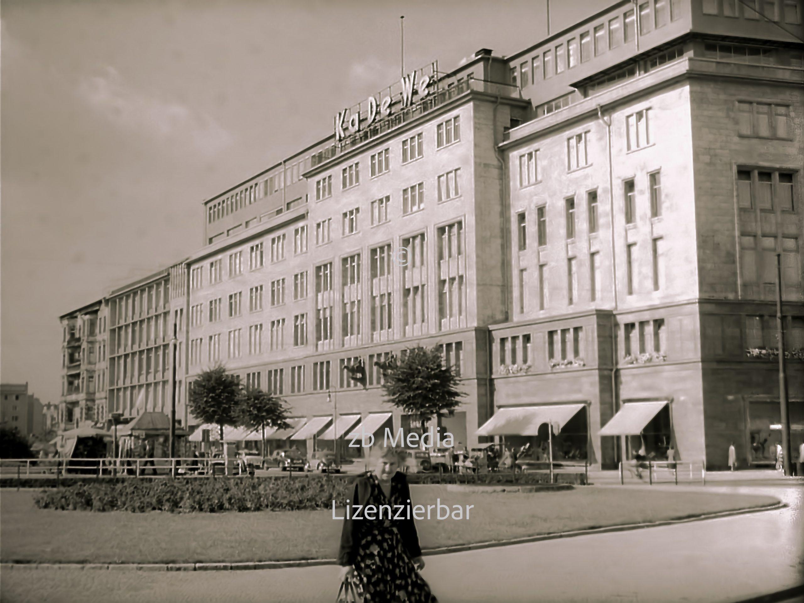 KaDeWe Kaufhaus Berlin 1955