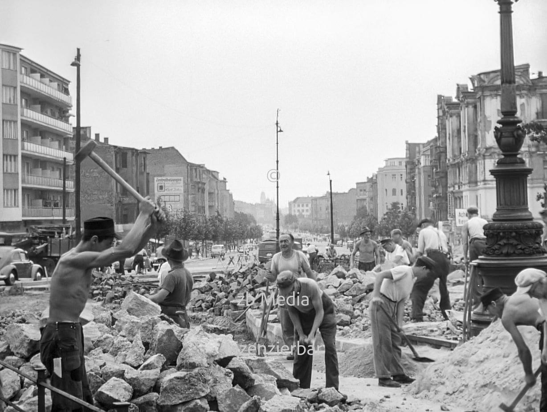 Bauarbeiter in Berlin 1955