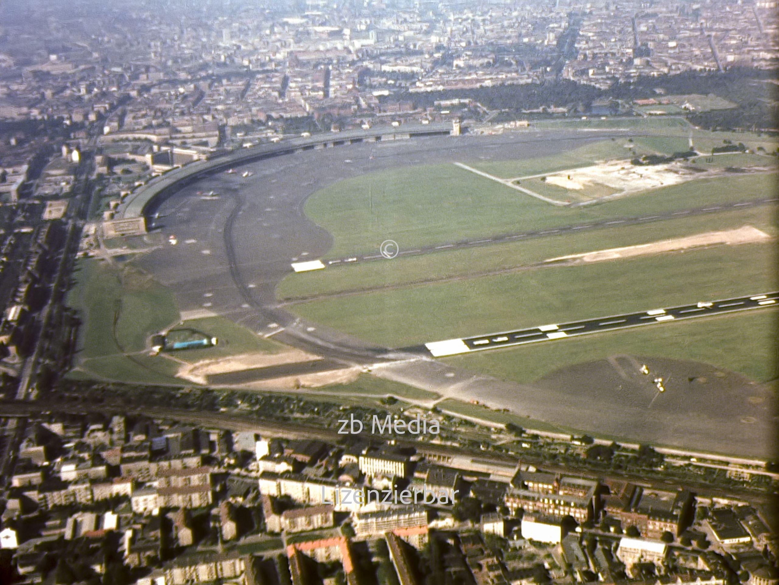 Flugaufnahme Berlin Tempelhof 1961