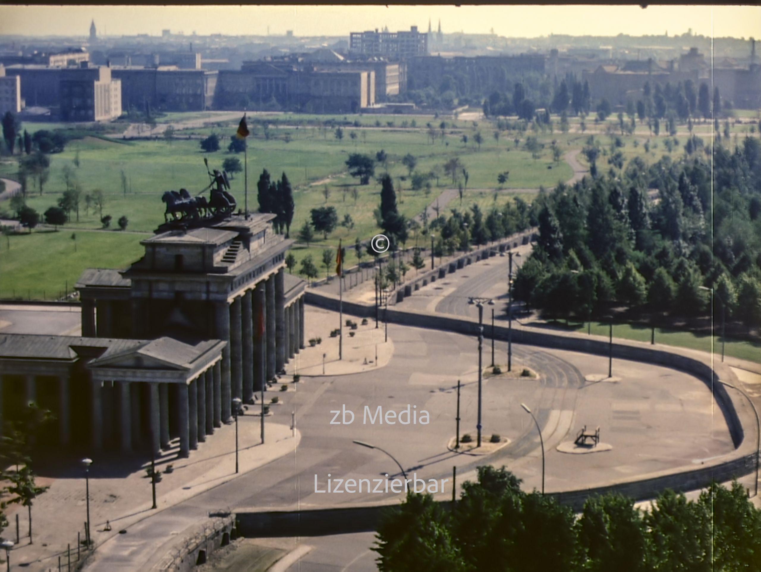 Brandenburger Tor in Berlin 1961