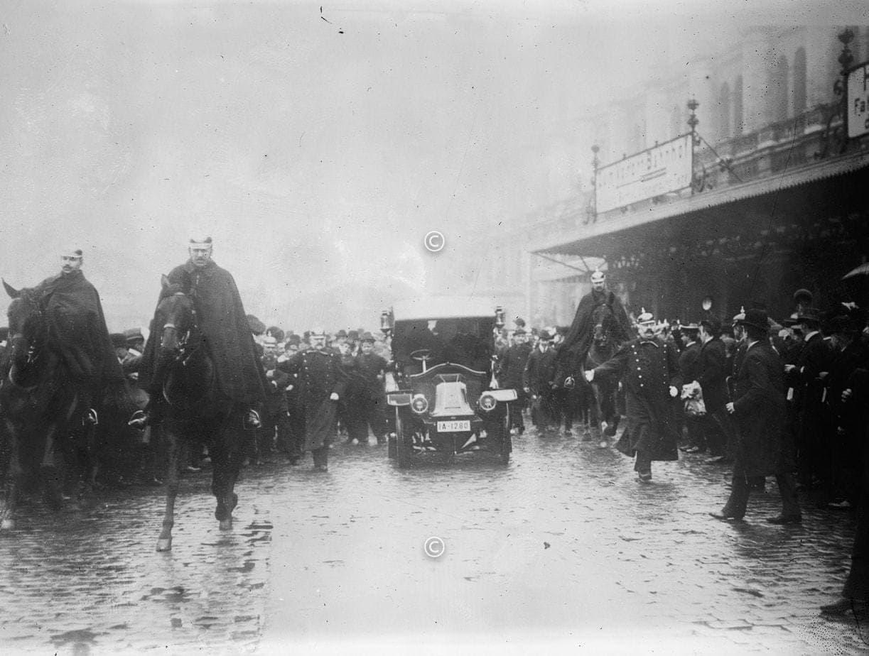 Roosevelt am Bahnhof in Berlin 1919