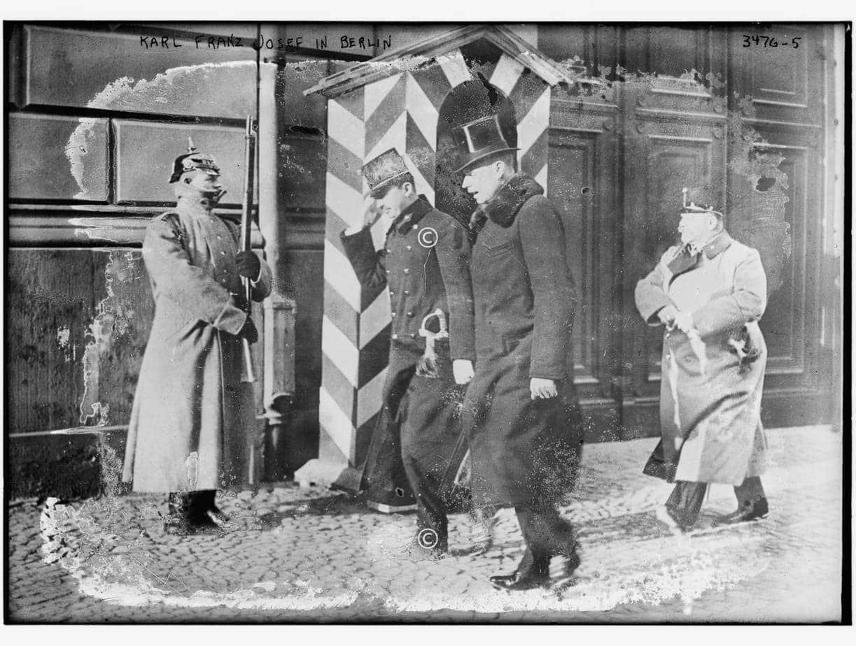 Kaiser Karl Franz Josef in Berlin 1917