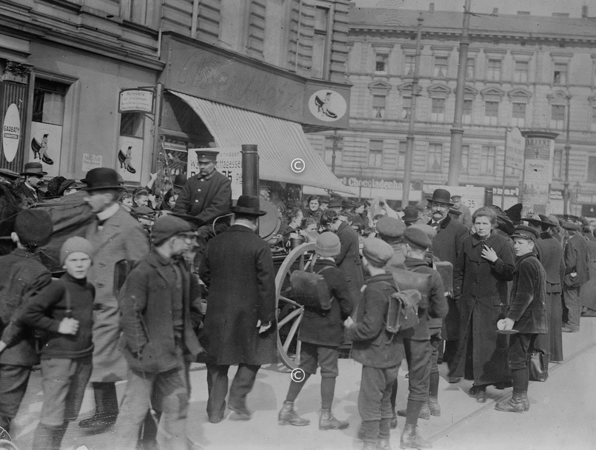 Suppenküche in Berlin 1918