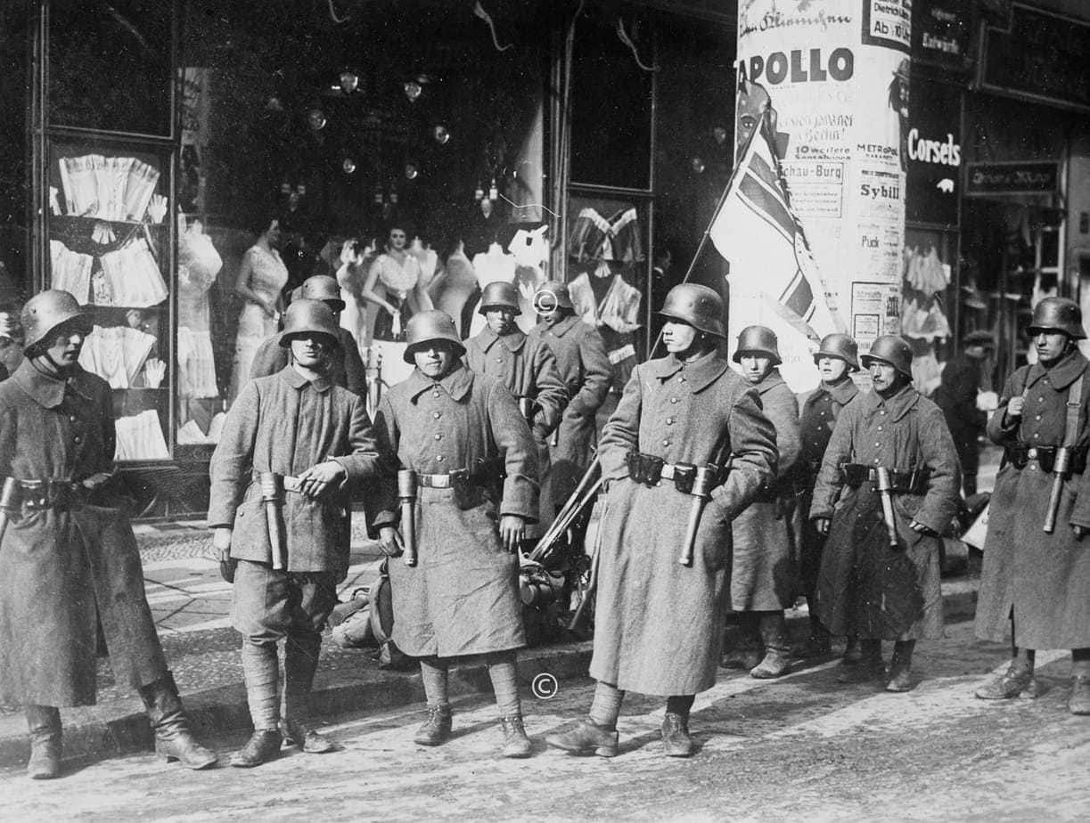 Kapp-Putschisten in Berlin 1920