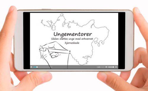 En animeret film om ungementores støtte til unge med erhvervet hjerneskade