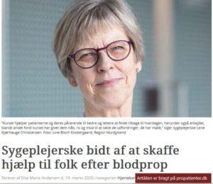 Artikel om nordjyder, der får hjælp efter blodprop