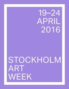Stockholm Art Week 19-24 april 2016