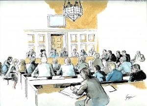 Gugge Norinder. Rättegång 80-tal