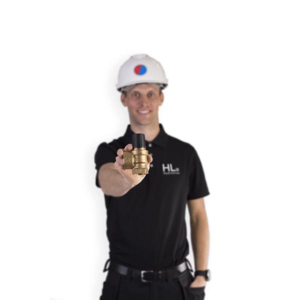 säkerhetsventil till VVS avgasning tryckhållning
