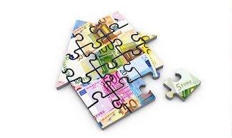 Puzzleteile von einem Haus