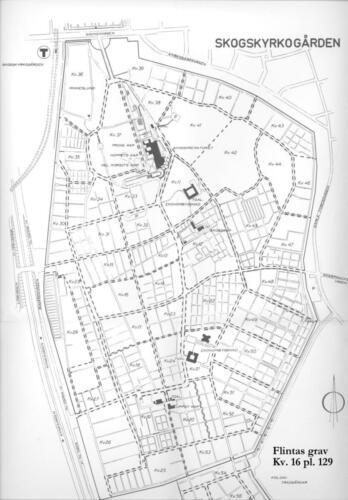 Flintas grav på Skogskyrkogården