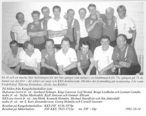 KKS-FIF 75 år 1991-10-14