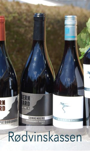 Rødvinskassen – Smagekasse med 6 flasker blandet rødvin