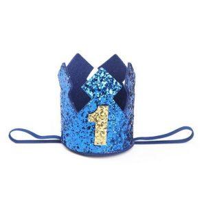 blauw verjaardagskroon 1 jaar