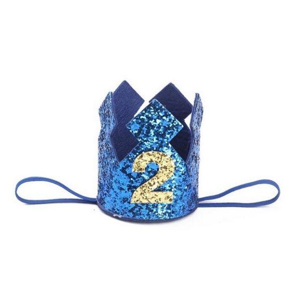 blauw verjaardagskroon 2 jaar