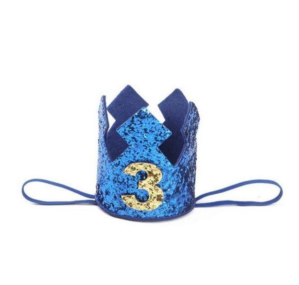 blauw verjaardagskroon 3 jaar