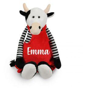 Knuffel koe met naam