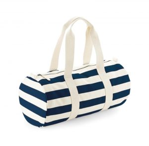 navycreambarrelbag