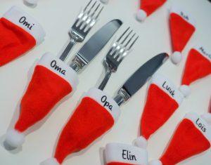 Bestek kerstmuts met naam