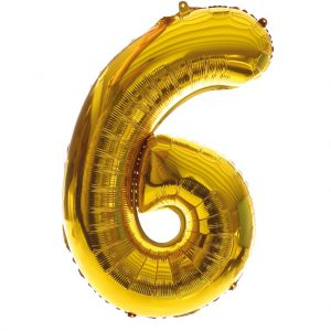 grote folieballon cijfer 6