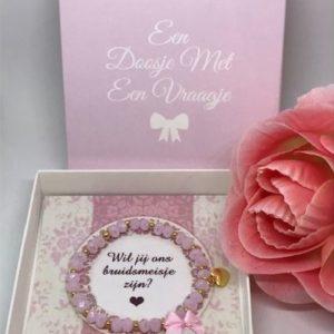 armband bruidsmeisje vragen