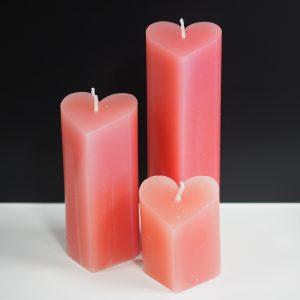 kaars hartvorm roze