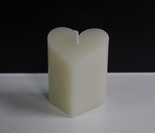 harvormige kaars wit