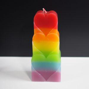 regenboog hart kaars