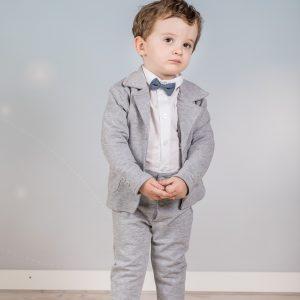 Kostuum jongen grijs