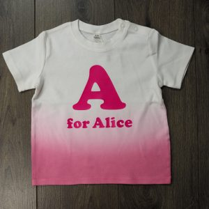 Letter name t-shirt