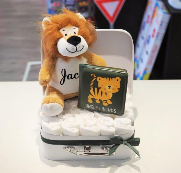 Koffertje gevuld safari leeuw