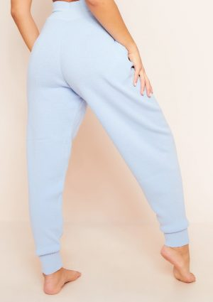 Jenniya Pale Blue Knitted Jogger Bottoms