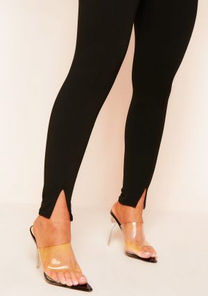 Mia Black Split Hem Trousers