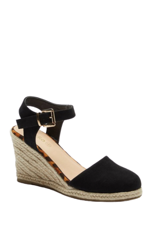 2-Part Espadrille Wedge Shoes