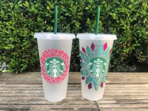 Starbucks Summer Cups with straw