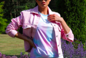 Pink Acid Wash Denim Jacket – Abbie