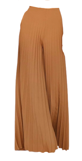 SHEIN Solid Zip Back Pleated Wide Leg Trousers