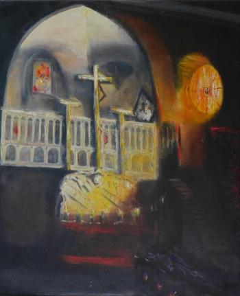 B79 Jeruzalemkerk 60x50cm Hollingsworth Paul