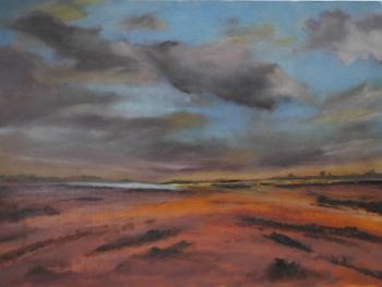 #106 Sunset, Wells Beach, Norfolk 60x80cm Hollingsworth Paul
