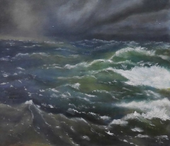 #160 Between the Waves after Aivazovsky 71x81cm Hollingsworth Paul