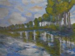 #163 Peupliers sur l'Epte after Monet 76x102cm Hollingsworth Paul