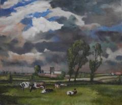#167 Aldeby Norfolk after Seago 71x81cm Hollingsworth Paul