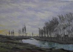 B97 Le Petit Bras de la Seine after Monet 50x70cm Hollingsworth Paul