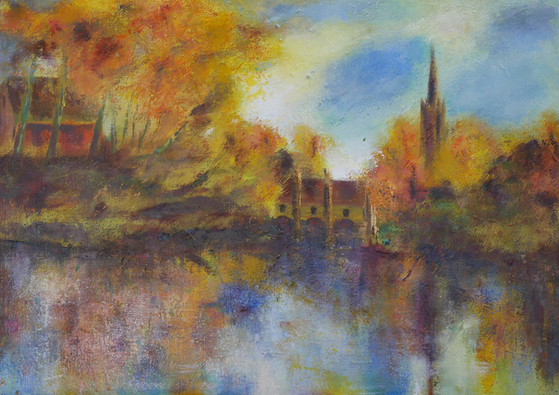 B40 Minnewater by Paul Hollingsworth. Oil Paintings by Paul Hollingsworth.