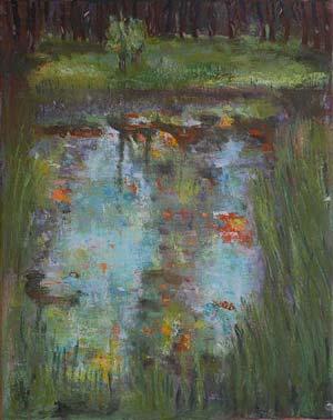 B10 Der Sumpf after Klimt 50x40cm HollingsworthPaul. Oil Paintings by Paul Hollingsworth.