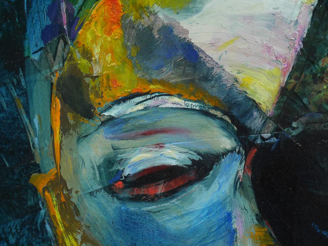 Oil painting Jack-of-spades by artist Paul Hollingsworth