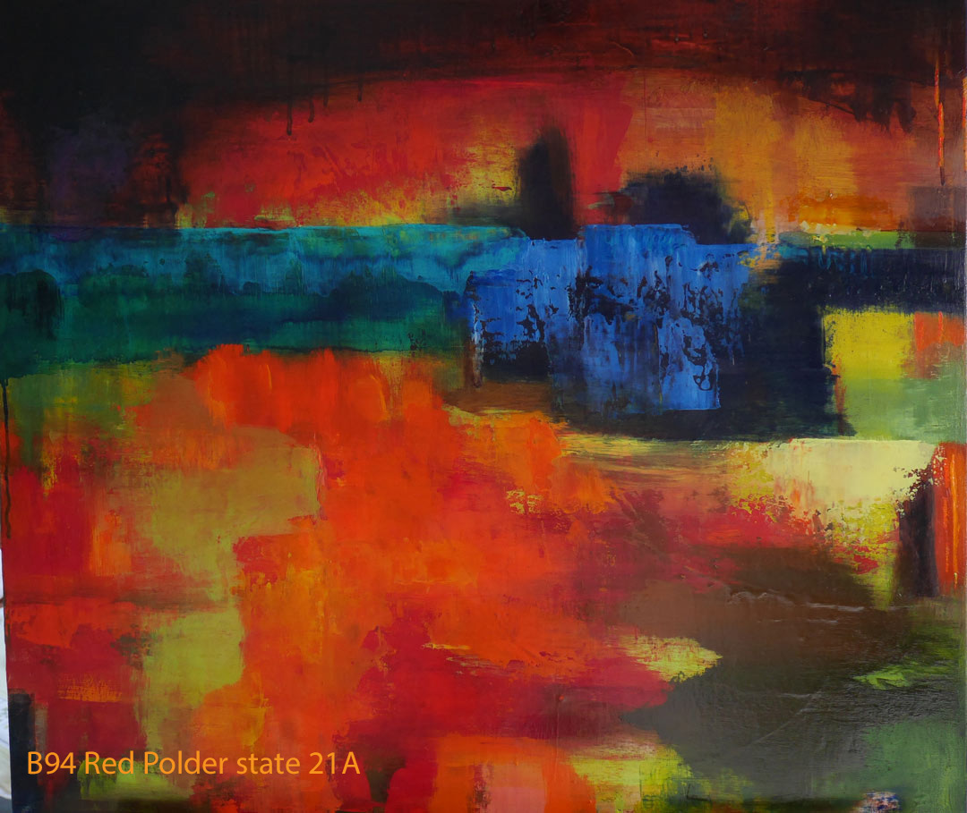 B94 Red Polder state 21A HollingsworthPaul 29Aug2017. Oil Paintings by Paul Hollingsworth.